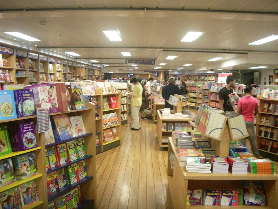 The bookstore onboard the Logos ship.JPG